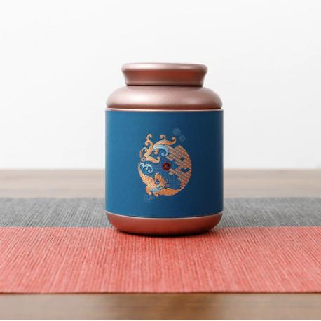 Blå kinesisk teboks