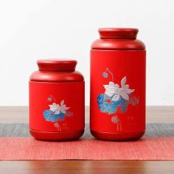 Rød kinesisk teboks
